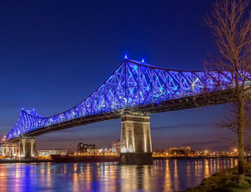 Jacques-Cartier Bridge in Montreal, Illumination Award IES-Montreal 2017