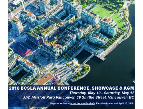 British Colombia Society of Landscape Architects BCSLA, Vancouver 2018