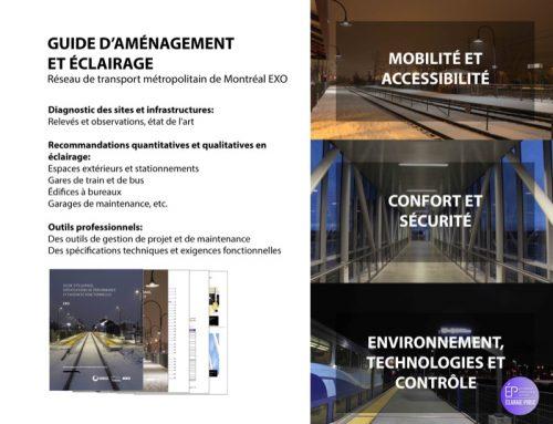 Un guide d'éclairage pour le Réseau de transport métropolitain de Montréal EXO